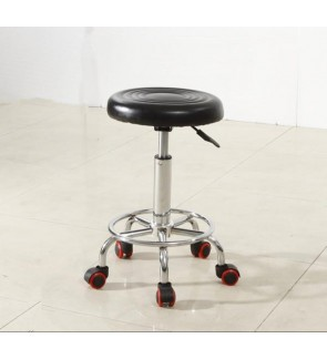 Round Swivel Chair Lifting Adjustable Height Rotatable Chair Office/Bar/Hair Salon/Reception Stool Simple Design