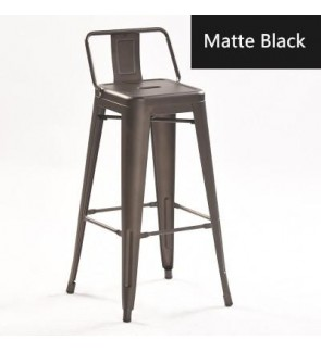 76 CM - Tolix Lowback Bar Stool / Cafe and Pub Bar Stool / Metal Bar Stool