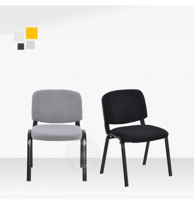 Fabric Comfortable Stackable Steel Side Chair / Visitor Chair