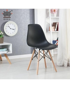 Plastic Chair With Wood Base