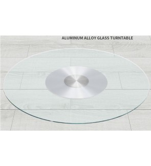 80CM Tempered Glass Top Swivel Plate For Dining Table