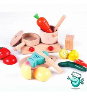 KiumHouse Wooden Kitchen & Fruit Set