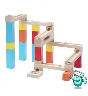 Wooden Marble Run Building Block (54pcs)