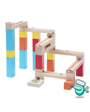 Wooden Marble Run Building Block (54pcs)