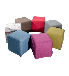 Modern Fabric Square Ottoman Stool / Sofa Footstool