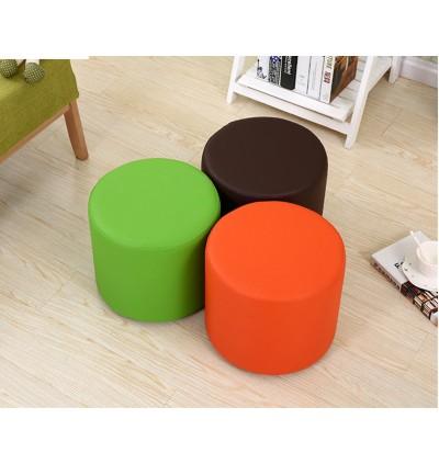 Modern PU Round Ottoman Stool / Sofa Footstool