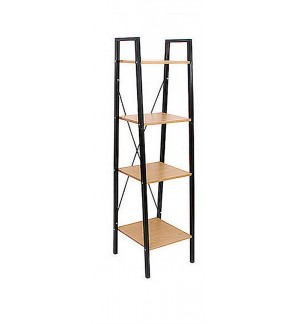 Home Furniture metal frame 4-tier free stand shelf special use bookcase and CD rack