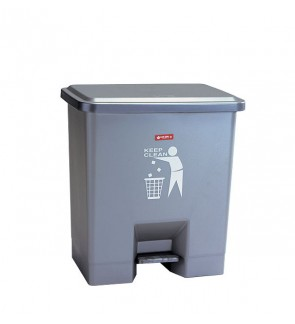 Square Foot Pedal Dustbin 15 Liter