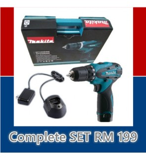 Makita Battery Cordless Drill Screwdriver Bateri 12v compact set bosch worx stanley