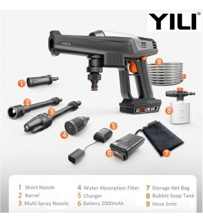 YILI Cordless Water Jet 20v Battery Portable High Quality Pressure Washer Cleaner worx