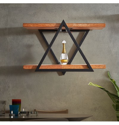 New Design Solid Wood Wall Mounted Shelf