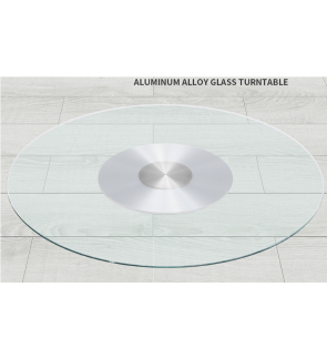 60CM Tempered Glass Top Swivel Plate For Dining Table
