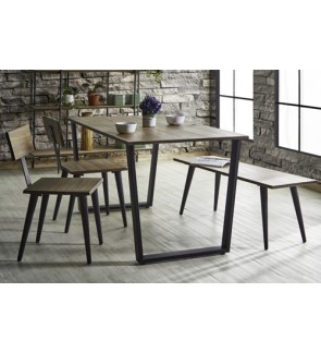 Quality Modern Solid Wood 120CM Rectangle Dining Set