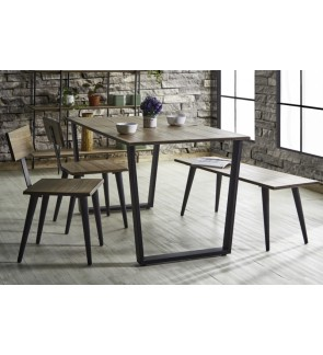 Quality Modern Solid Wood 150CM Rectangle Dining Set
