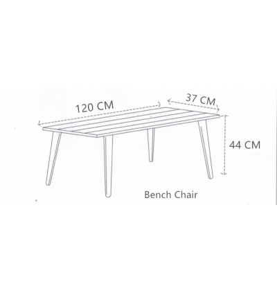 Modern Solid Wood Bench Chair