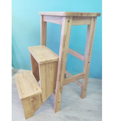 Quality Solid Wood Step Ladder Stool