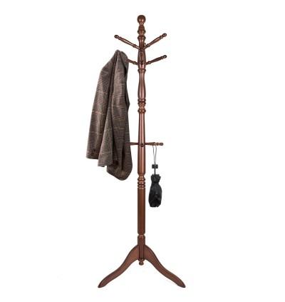 Standing Coat Rack, Wooden Coat Hat Tree Coat Hanger Holder