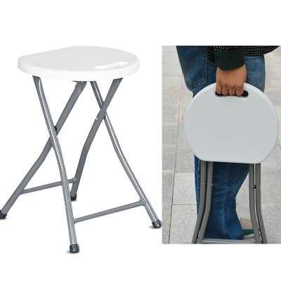 Folding Step Stool with Easy Carry Handle Indoor / Outdoor Plastic Folding Stool