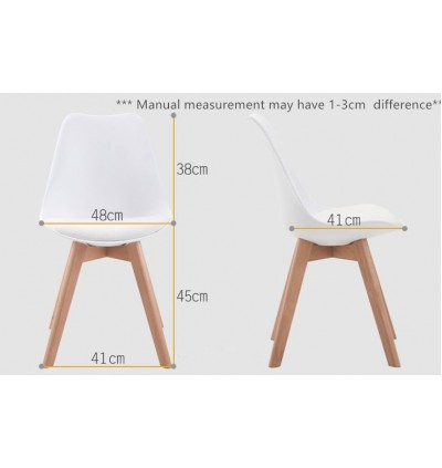 Modern Design Comfortable PU Cushion Living Room Dining Chair
