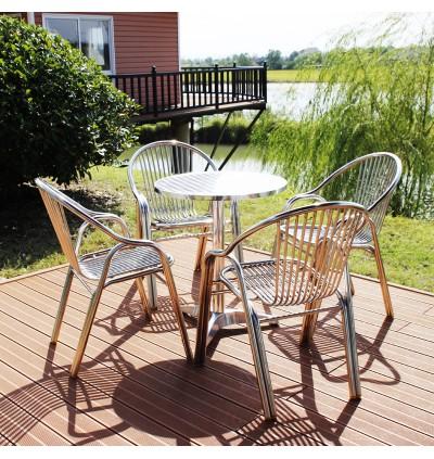 60cm Aluminum Indoor / Outdoor Table for Bar Backyard Restaurant