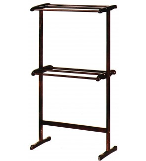 2 tier Wooden Towel Rack Indoor Stand