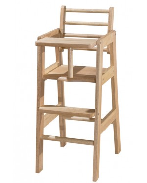 Fully Solid Rubber Wood Baby Dining Chair