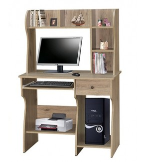 Computer Table with Shelf, Meja Komputer