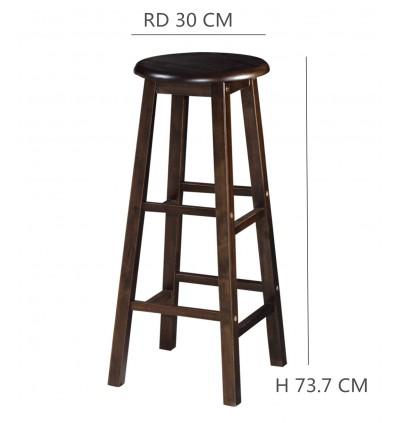 2 PCS x 29 INCH QUALITY SOLID WOOD PUB COUNTER BAR STOOL CHAIR