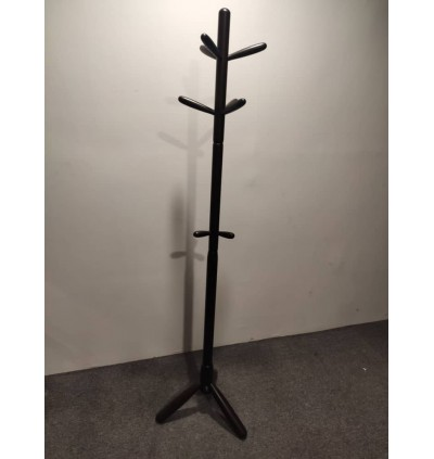 High-Grade Wooden Tree Coat Rack Stand, 9 Hooks - Super Easy Assembly - Hallway/Entryway Coat Hanger Stand for Clothes, Suits, Accessories