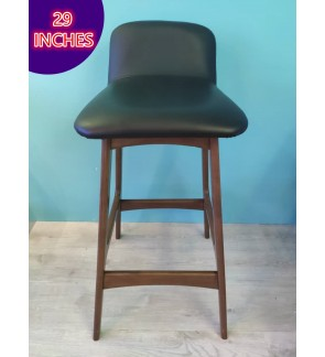 Solid Wood Cafe Bar Chair / Counter Chair / Bar Stool with PVC Seat ( 29 inches )