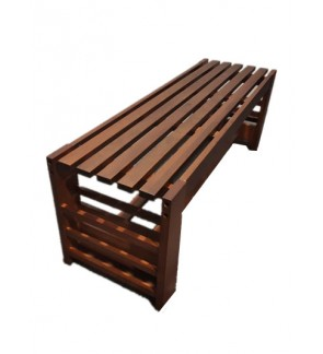 Solid Wood Bench Chair / Long Stool / Lounge Spa Shower Changing Room Furniture