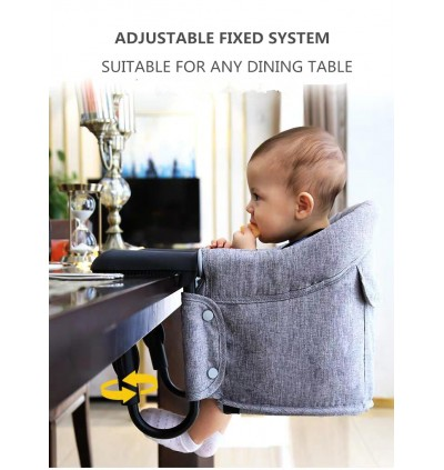 Portable Baby Foldable Feeding Chair / Baby Hook On High Chair / Portable Travel Highchair Clips to Dining Table