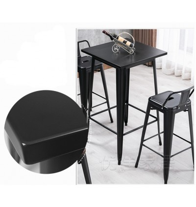 Dining Pub Square Table / Bar Table / Iron Metal Cafe High Table