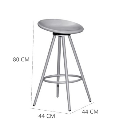 Revolving Dining Cafe Bar Chair / Bar Stool / Iron Metal Cafe High Chair