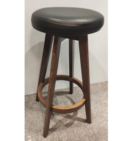 Set of 2pcs x Wooden Swivel Bar Stool with Cushion Seat  - 29 Inch Seat Height