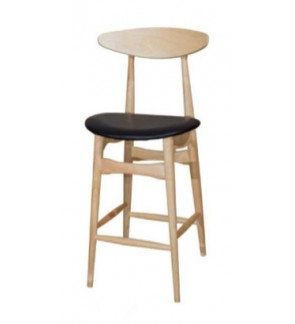 Set of 2 - 29 inches - Counter Pub Bar Height Chairs Upholstered Dining Chair Bar Stools, Solid Wood Leg, PVC Seat