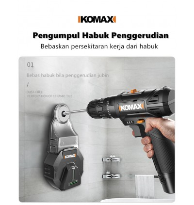 Komax Electric Drilling Dust Collector / Wall Dust Collection / Removal Dust Collector Tool / Pengumpul habuk gerudi