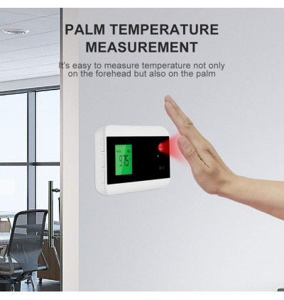 Small Wall-Mounted Infrared Forehead Thermometer with LED Display Non-Contact Digital Intelligent Thermometer Self-Test