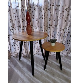 Modern Round Nesting Coffee Table Set Living Room / Coffee Table / Side Table