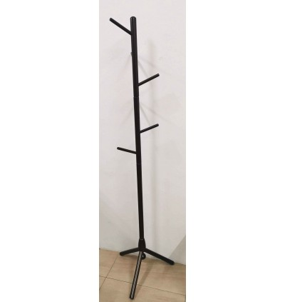 High-Grade Wooden Tree Coat Rack Stand with 6 Hooks / Coat Hanger