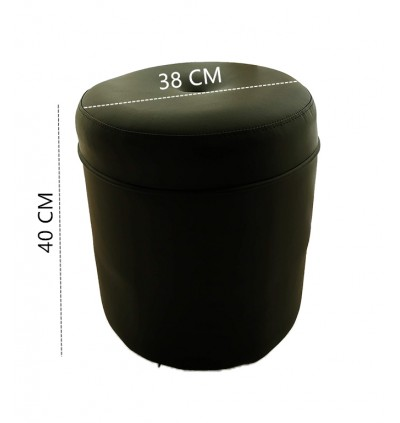 Round PVC Ottoman Vanity Stool Pouf Ottoman /  Foot Stool for Living Room Seat Dressing Chair Footrest