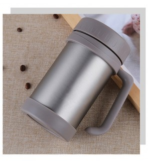 Stainless Steel Insulated Vacuum Tumbler Mug with Built-in Handle