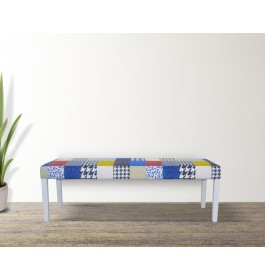 Solid Wood Bench Chair with Cushion Seat