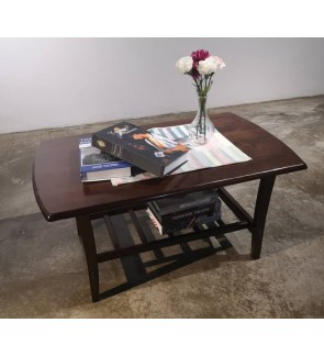 Simple and Modern Solid Rubberwood Coffee Table