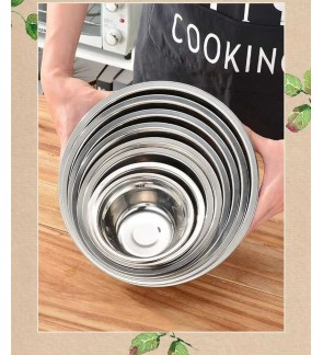 Stainless Steel Mixing Bowl / Serve Bowl / Soup Bowl  - ( 2pcs in set )