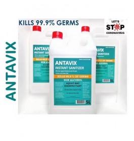 ANTAVIX Sanitizer Kills 99.99% of Germs Alcohol Free / Sanitizer Membunuh 99.99% Kuman Tanpa Alkohol- 5 Liter