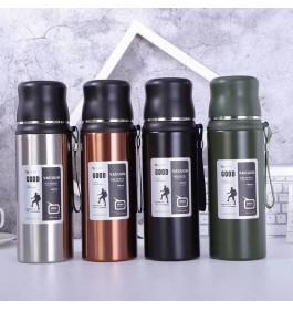 Stainless Steel Thermos for Tea Coffee With Handle / Termos Vakum Berkualiti Air Panas dan Sejuk Tahan