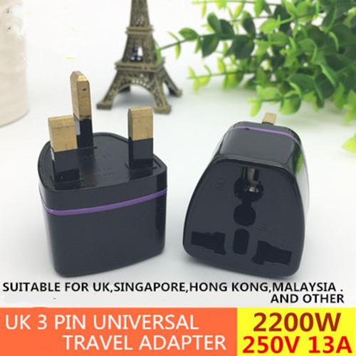 2200W UK 3 Pin Universal Travel Adapter 250V 13A / International Socket Adaptor