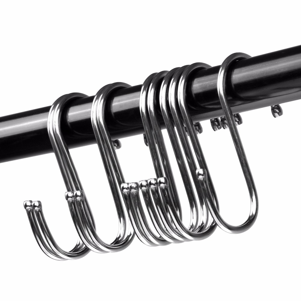 4 PCS/PKT S TYPE STAINLESS STEEL HOOK