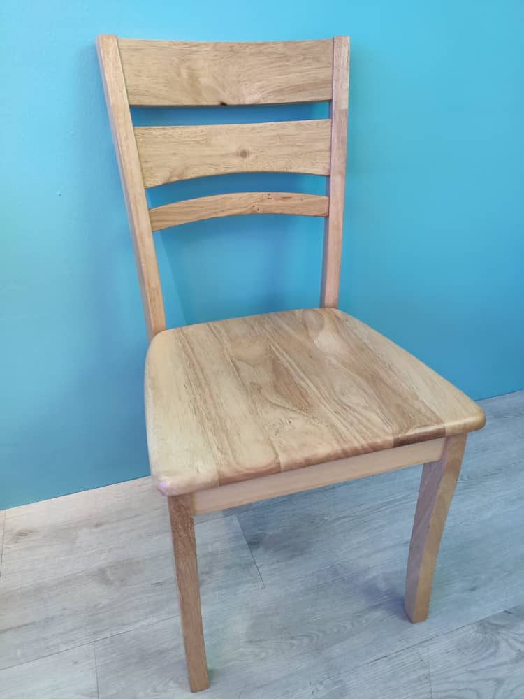 Solid Rubberwood Structure dining chairs / Study Chair( set of 2 )